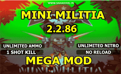 Mini Militia MOD APK Cracked Free Download [ Unlimited Health Ammo Nitro ]